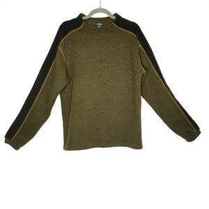 Kuhl Alpaca Fleece Pullover Sweater Green Mens